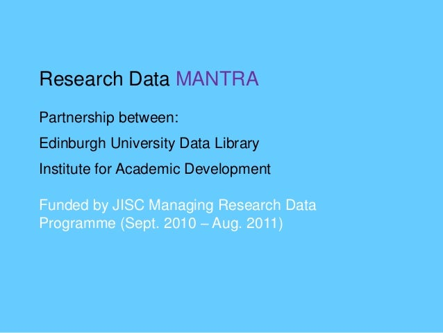Why manage research data? Data Deluge – exponential growth in the volume of digital research artefacts created within acad...