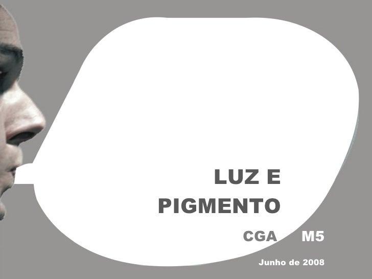 LUZ E PIGMENTO CGA  M5 Junho de 2008