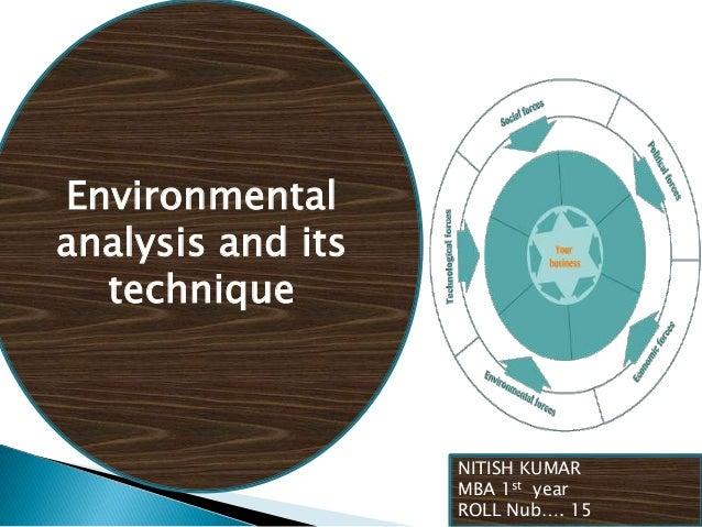 Environmental analysis and its technique  NITISH KUMAR MBA 1st year ROLL Nub…. 15
