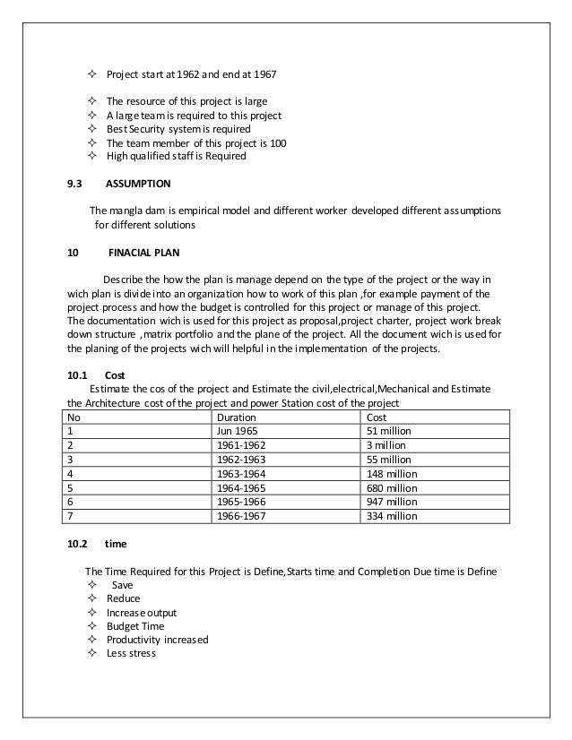 project plan document