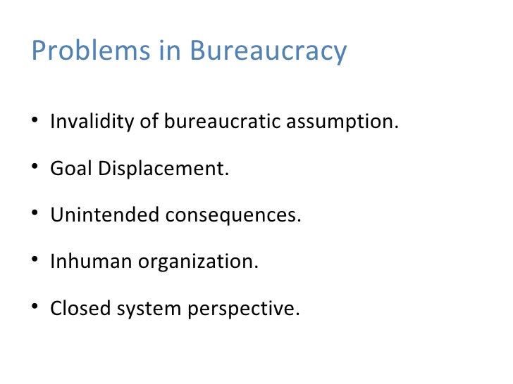positive aspects of bureaucracy The informal side of a bureaucracy is composed of those aspects of participants' day-to-day activities and interactions that ignore, bypass, or do not correspond with the official rules and procedures of the bureaucracy.