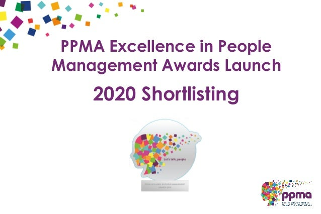 PPMA Excellence in People Management Awards Launch 2020 Shortlisting