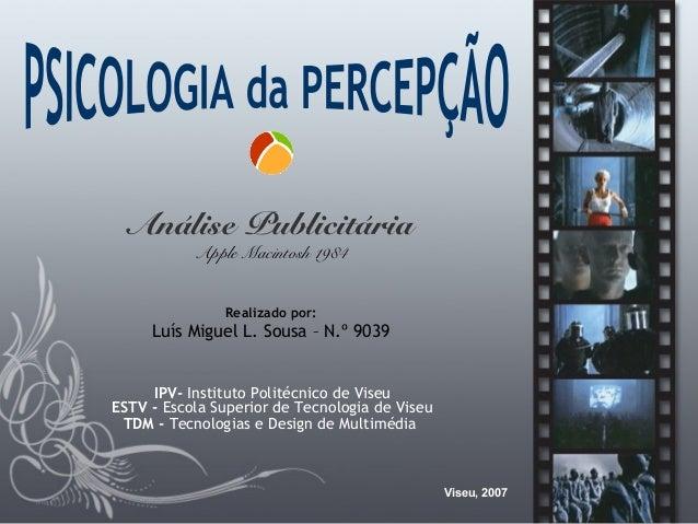 IPV- Instituto Politécnico de Viseu ESTV - Escola Superior de Tecnologia de Viseu TDM - Tecnologias e Design de Multimédia...