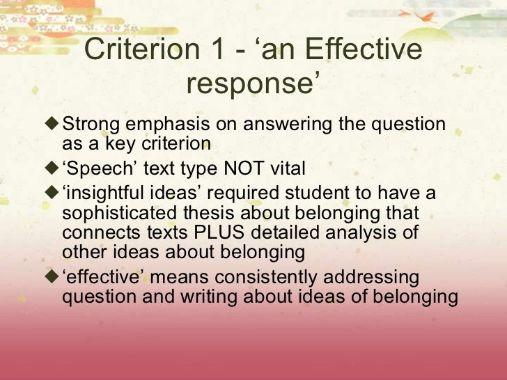 belonging hsc 2010 Wednesday, february 24, 2010 i have created this blog to enhance the development of resources outlined in 'hsc english area of study: belonging.