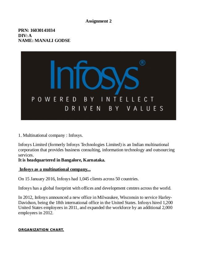 Business Functions InfosysAssignment2
