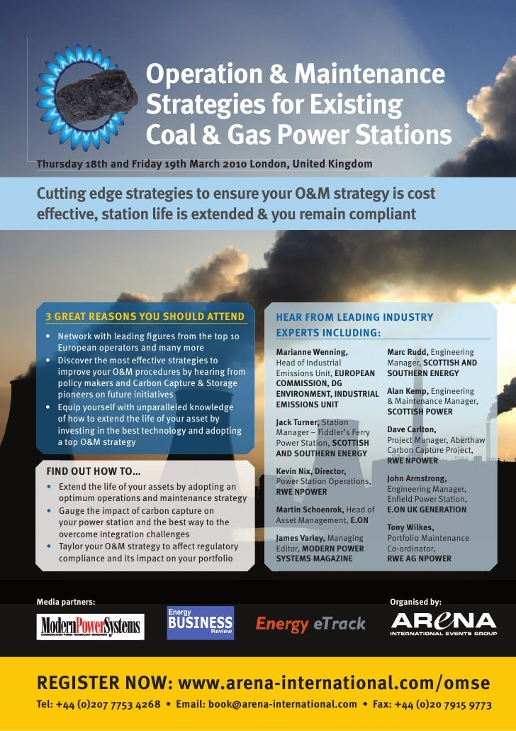Operation & Maintenance                          Strategies for Existing                          Coal & Gas Power Station...