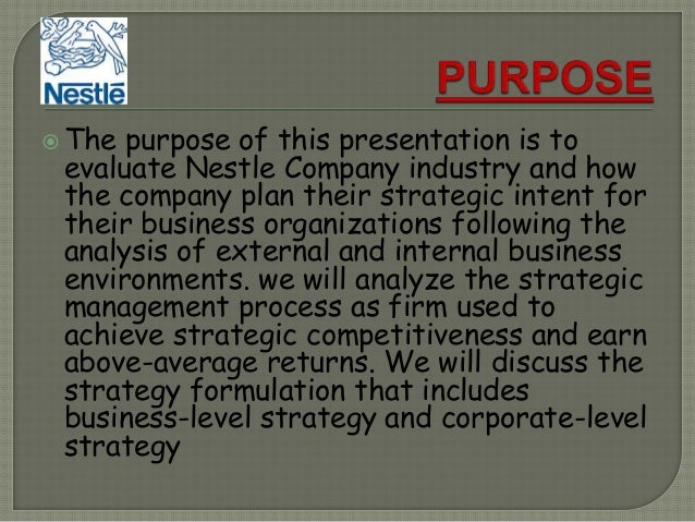 recommendation to nestle company Nestlé: almost 150 years pioneering nutrition and health people, products,  brands putting the consumer first food is local nestlé – a company built on  brands.