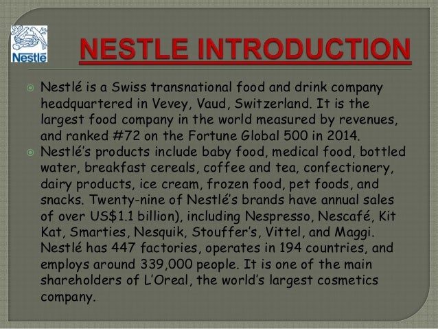 nestle strategic plan The nescafé plan is a global initiative that brings together our commitments and activities that support the responsible farming, production and supply, and consumption of coffee the nescafé plan promotes responsible farming in four main ways.