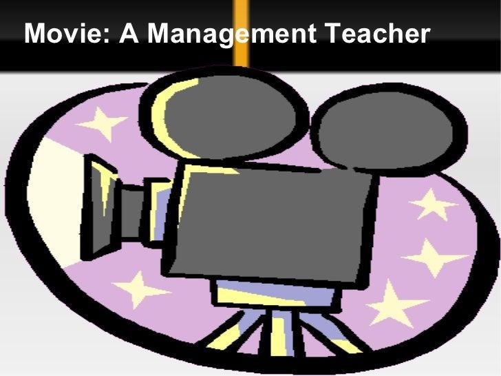 Movie: A Management Teacher
