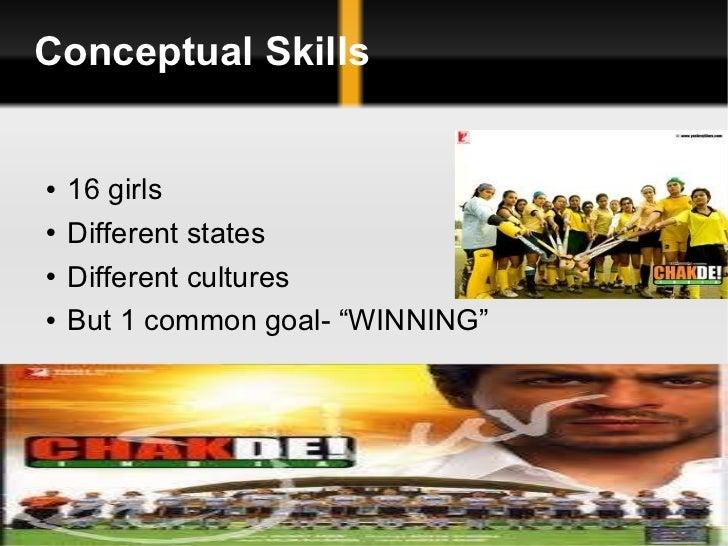 Conceptual Skills <ul><li>16 girls </li></ul><ul><li>Different states </li></ul><ul><li>Different cultures </li></ul><ul><...