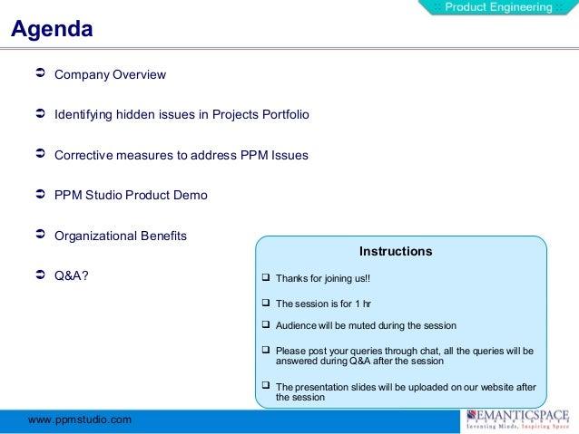 PPM Studio: 7 Steps For Projects Portfolio Improvement Slide 2
