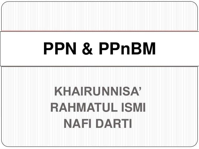 Presentasi Ppn Dan Ppnbm
