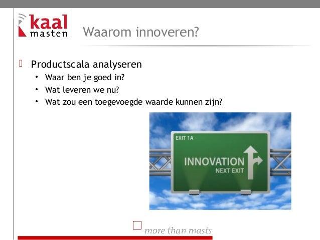 Innovatieproces Kaal Masten B.V. Slide 3