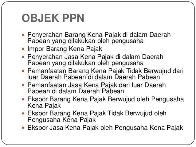Objek Pajak Pertambahan Nilai Ppn Keuangan Lsm Eksport Indonesia