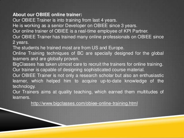 Oracle OBIEE Training | OBIEE Online Training | OBIEE 11g