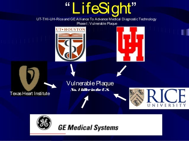 "TexasHeart Institute ""LifeSight""UT-THI-UH-Riceand GE AllianceTo AdvanceMedical Diagnostic Technology PhaseI: VulnerablePla..."