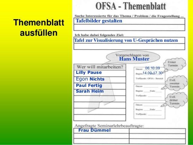 OFSA- Raumpläne • und jetzt kann's losgehen