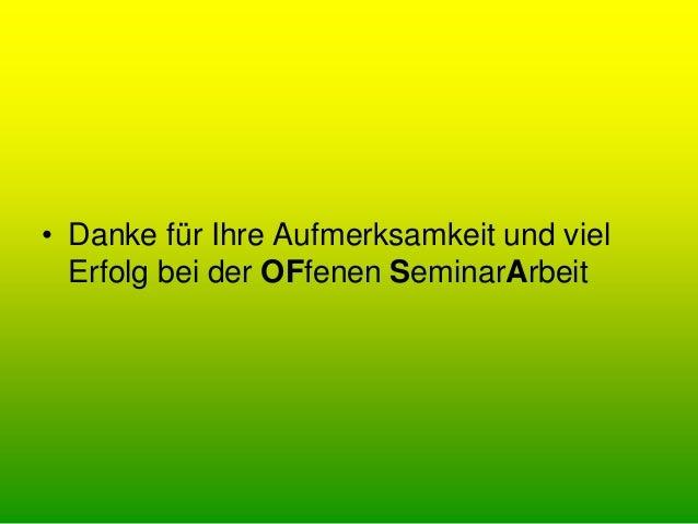 """OfSA - Einführung in die """"Offene Seminararbeit"""" am Seminar Nürtingen"""
