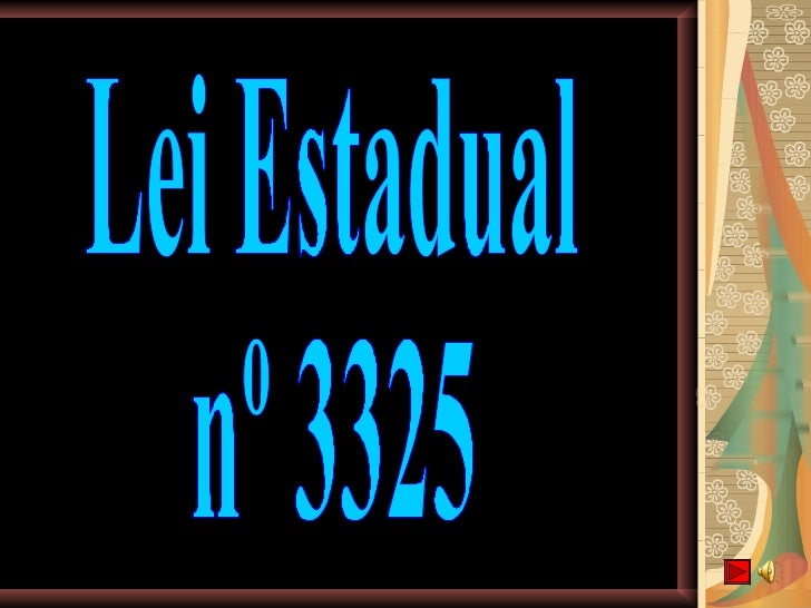 Lei Estadual nº 3325