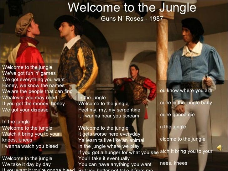 Welcome to the Jungle                                            Guns N' Roses - 1987Welcome to the jungleWeve got fun n g...