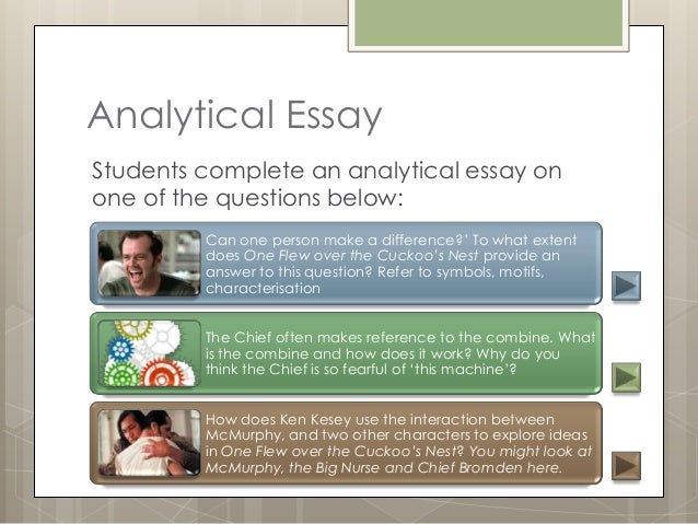 text analysis one flew over the cuckoos nest 16 analytical essaystudents complete an analytical essay onone of the questions below can one person make a difference