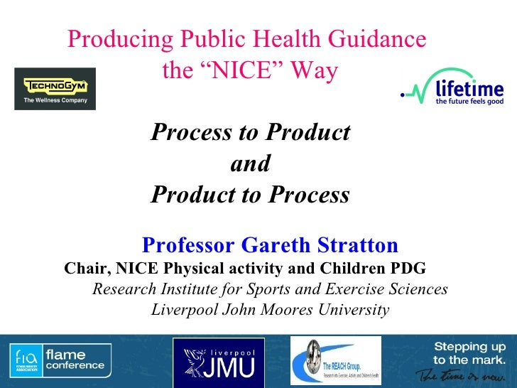 Professor Gareth Stratton Chair, NICE Physical activity and Children PDG   Research Institute for Sports and Exercise Scie...