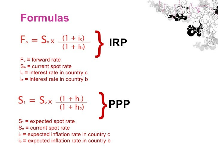 Interest Rate Parity and Purchasing Power Parity