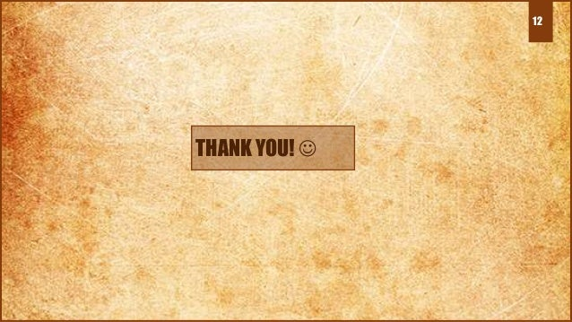 12 THANK YOU! 