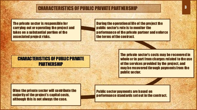 The private sector is responsible for carrying out or operating the project and takes on a substantial portion of the asso...