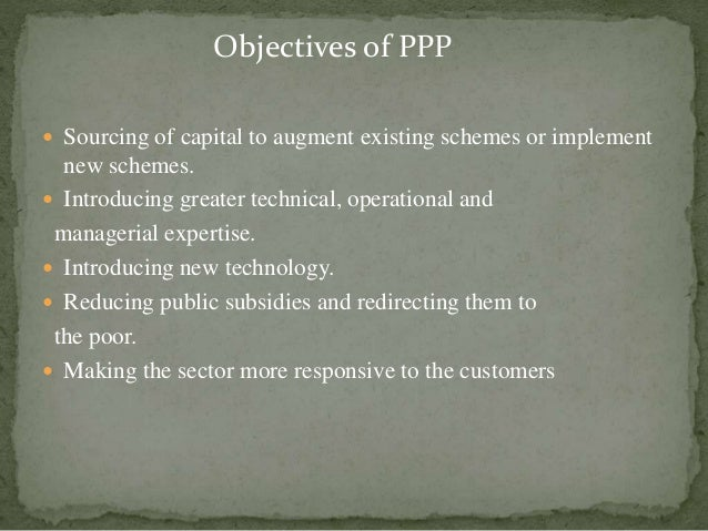  Sourcing of capital to augment existing schemes or implement new schemes.  Introducing greater technical, operational a...
