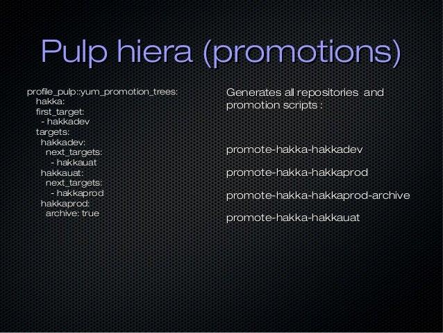 Pulp hiera (promotions)Pulp hiera (promotions) profile_pulp::yum_promotion_trees:profile_pulp::yum_promotion_trees: hakka:...