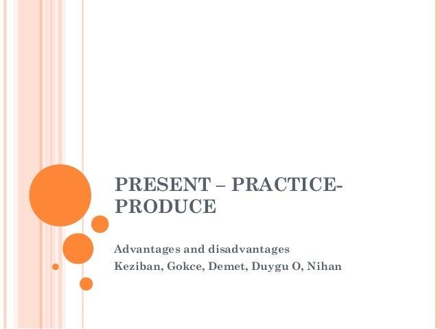 Advantages and disadvantages of presentation methods in EFL