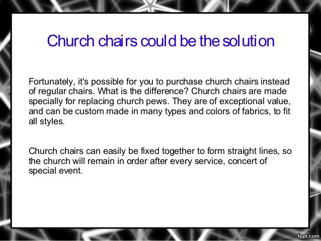 Should You Replace Your Church Pews With Chairs