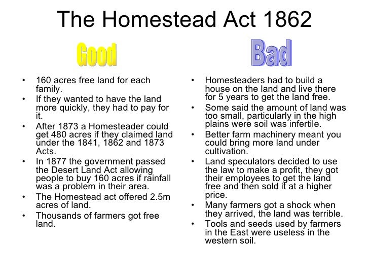 an overview of the farmer life and the homestead act of 1862 Kansas and the homestead act, 1862-1905 new york: arno press, 1979 [catalog  life as a homesteader new york.