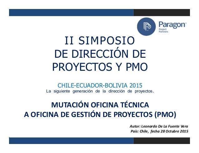 Mutaci n oficina t cnica a oficina de gesti n de proyectos for Direccion de la oficina