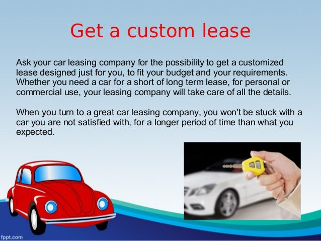 what i need to lease a car