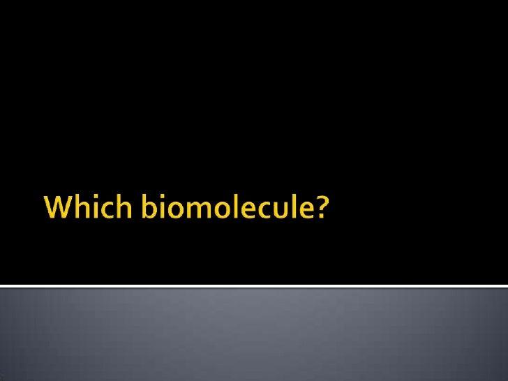 Which biomolecule?<br />