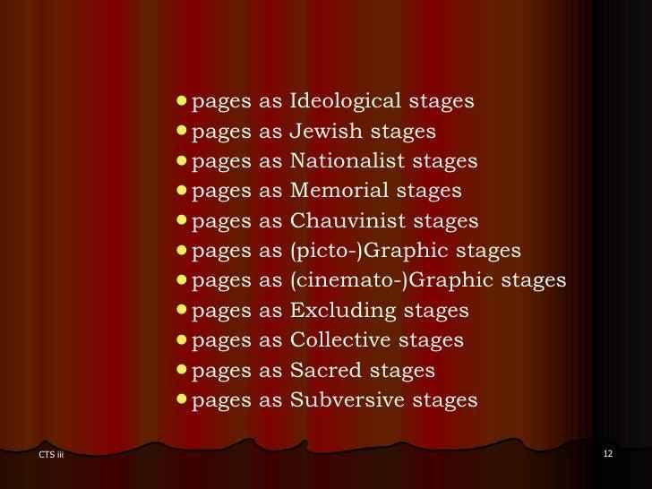 <ul><ul><ul><ul><ul><li>pages as Ideological stages  </li></ul></ul></ul></ul></ul><ul><ul><ul><ul><ul><li>pages as Jewish...