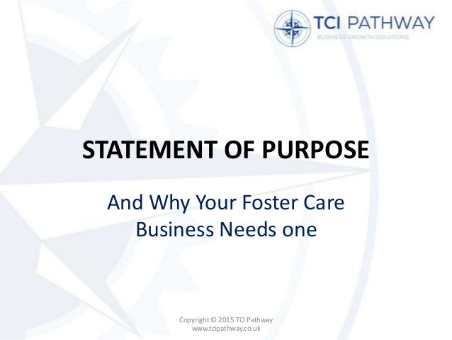 statement of purpose tas