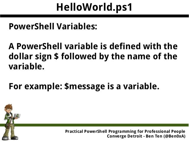 Practical PowerShell Programming for Professional People
