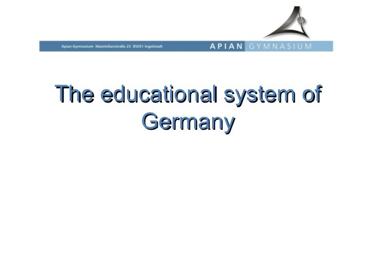 The educational system of Germany