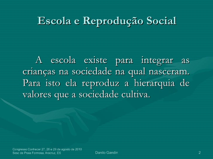 Projeto Político Pedagógico - Danilo Gandin Slide 2