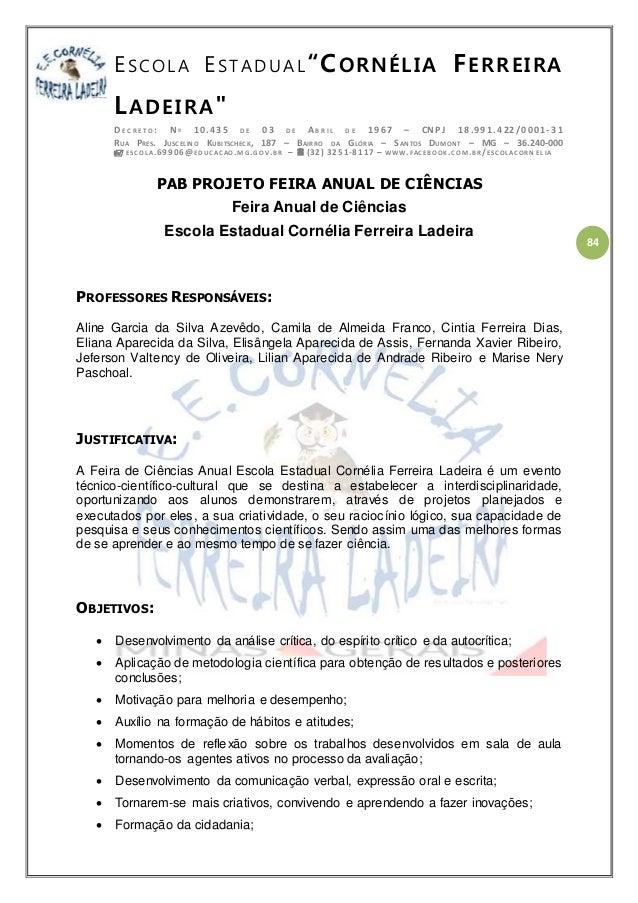 PPP PROJETO POLÍTICO PEDAGÓGICO ESCOLA CORNÉLIA 2016-2018