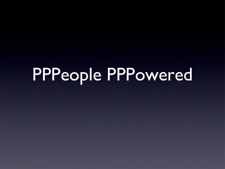 PPPeople PPPowered