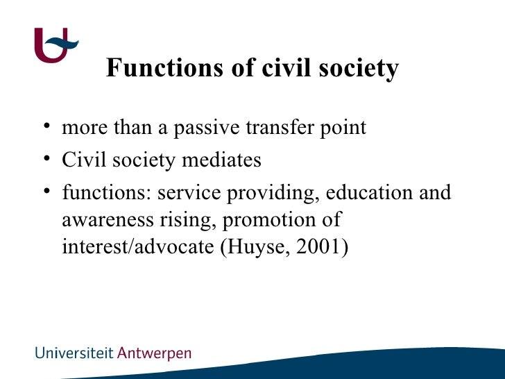 Civil society assumptions to debunk