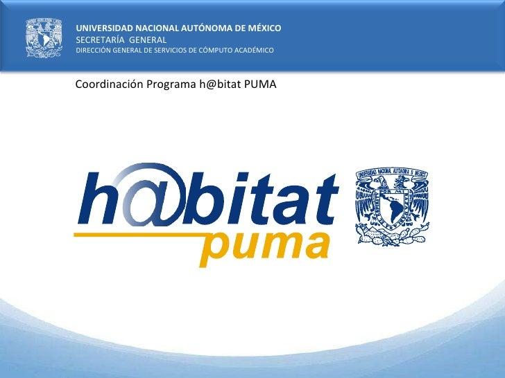 Coordinación Programa h@bitat PUMA