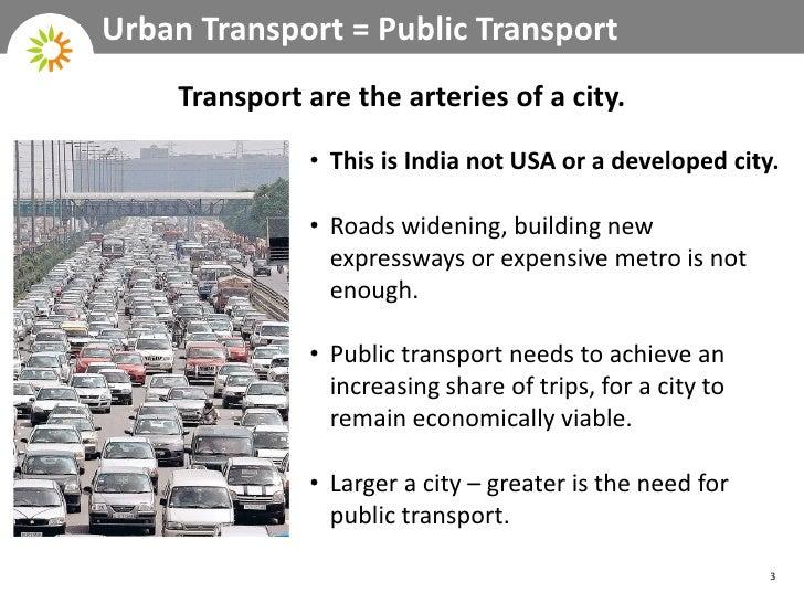 The importance of public transportation