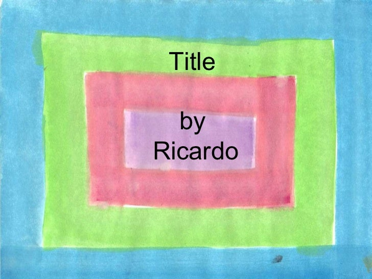 Title by Ricardo