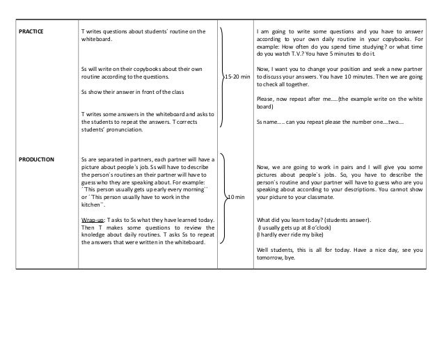 Ppp Lesson Plan Format