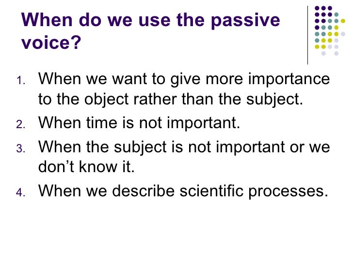 Present And Past Passive Voice
